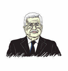 Mahmoud abbas president of palestine vector