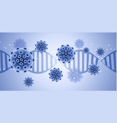 medical banner design with abstract virus cells vector image
