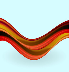 Modern colorful flow poster wave liquid shape vector