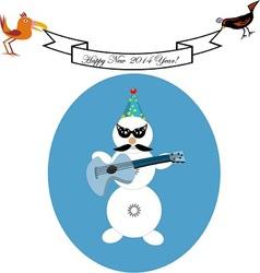 Musical snowman vector