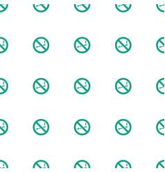No smoking icon pattern seamless white background vector