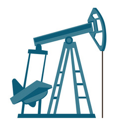 oil pump jack cartoon vector image