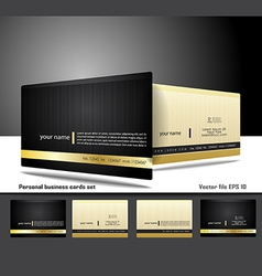 Personal business cards set vector
