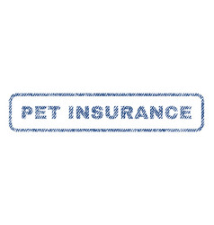 Pet insurance textile stamp vector