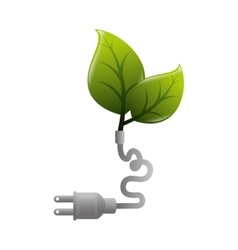 Plant plug ecology planet cable vector