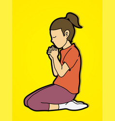 Prayer christian praying vector