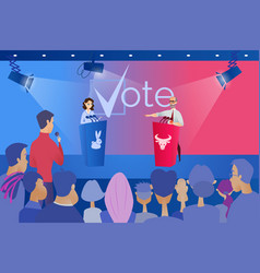 Public political debate before vote concept vector