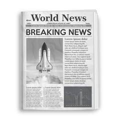 Retro vintage newspaper with set infographic vector