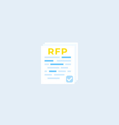 Rfp request for proposal flat icon vector