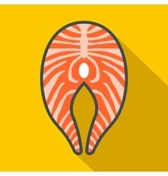 Salmon steak icon flat style vector image