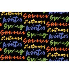 Season words seamless pattern vector image