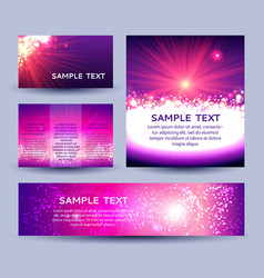 set of abstract sunburst background templates vector image