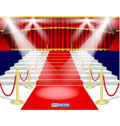 set of realistic red theater or curtain red blind vector image