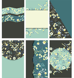 Set of vintage templates for cards vector