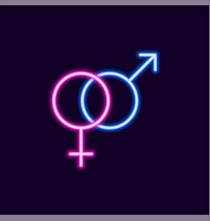 Sex neon icon 80s text letter glow light retro vector