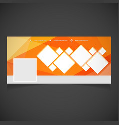 social media cover with elegent design vector image