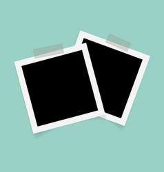 square photo frames with sticky tape vector image