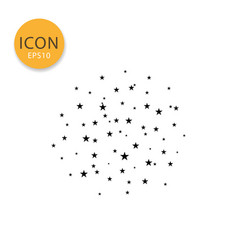 stars sky icon isolated flat style vector image