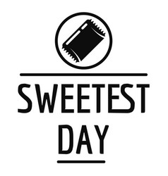 Sweet day logo simple style vector