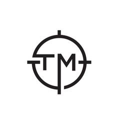 t m target mission logo design concept vector image