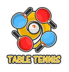 Table tennis sport colorful logotype isolated on vector