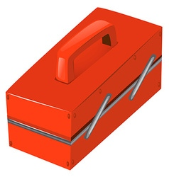 Tool box in red color vector
