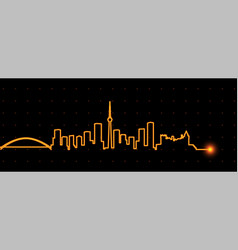 toronto light streak skyline vector image