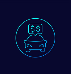transportation costs linear icon vector image