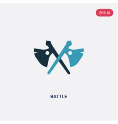 Two color battle icon from weapons concept vector