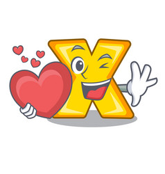 With heart cartoon multiply sign for calculate vector