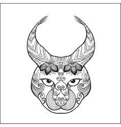 Zentangle stylized lynx vector image