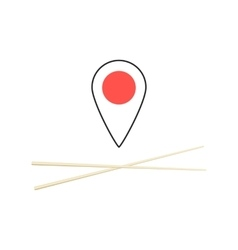 concept of finding sushi bar vector image