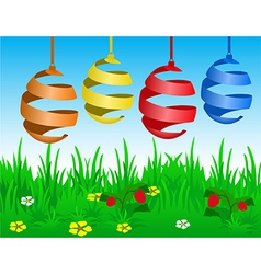Easter card with stylized eggs vector image