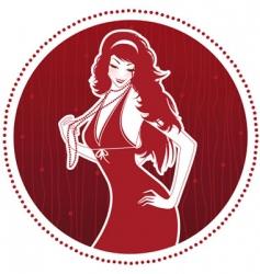 elegance women vector image
