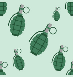 hand grenade bomb explosion weapons seamless vector image vector image