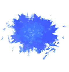 Paint ink grunge dirty splash blue vector