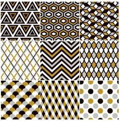 seamless gold geometric pattern vector image vector image