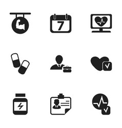 set of 9 editable mixed icons includes symbols vector image