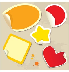 Set of different colors stickers vector image vector image