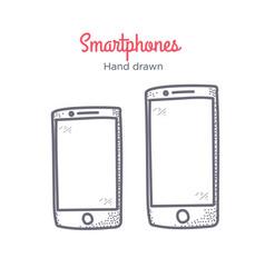 smartphone hand drawn doodle icon vector image vector image