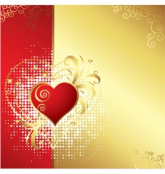 valentines day golden background v vector image vector image