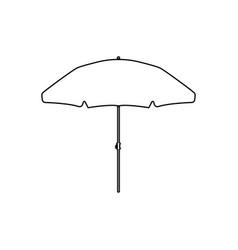 beach umbrella black color icon vector image vector image