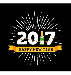 Congratulations to the happy new 2017 year with a vector image vector image