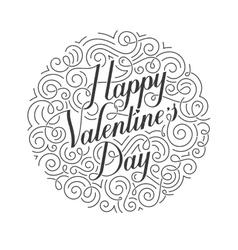 Happy Valentines Day card Original vector image vector image