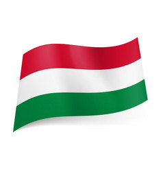 national flag of hungary red white and green vector image vector image