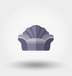 soft chair shell vector image vector image