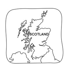 territory of scotland icon in outline style vector image
