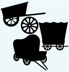 Vintage wagons to transport vector image vector image