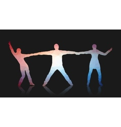 Young people posing for the camera Triangles vector image