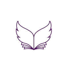 book with wing-shaped sheets vector image